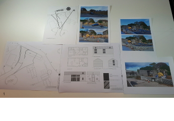 The client provides plans, elevations and photos.