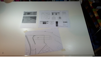 The first stage is to size the architect's drawings.