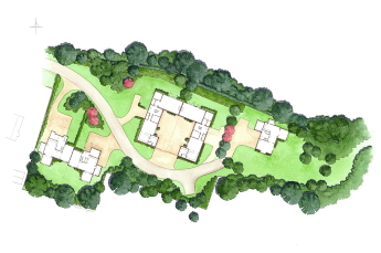 An interesting developement featuring detached and semi-detached properties.