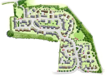Large residential area siteplan